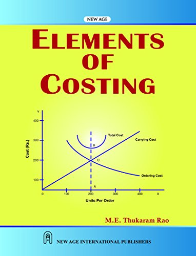 Elements of Costing: Thukaram Rao, M.E.