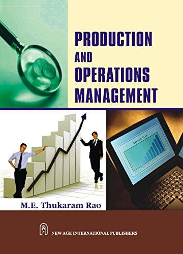 Production and Operations Management: Thukaram Rao, M.E.