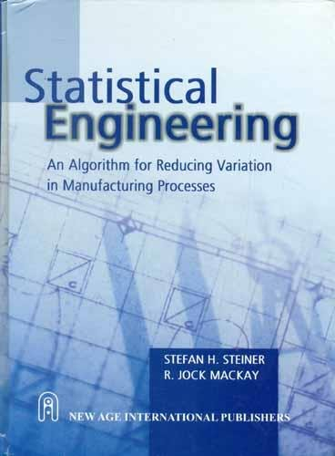 9788122431094: Statistical Engineering: An Algorithm for Reducing Variation in Manufacturing Processes