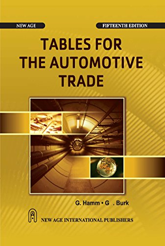 9788122434125: Tables for the Automotive Trade