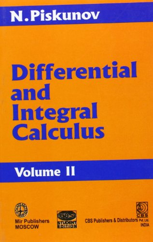 9788123904931: Differential and Integral Calculus: v. II