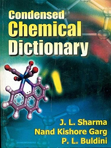 Condensed Chemical Dictionary: J.L. Sharma