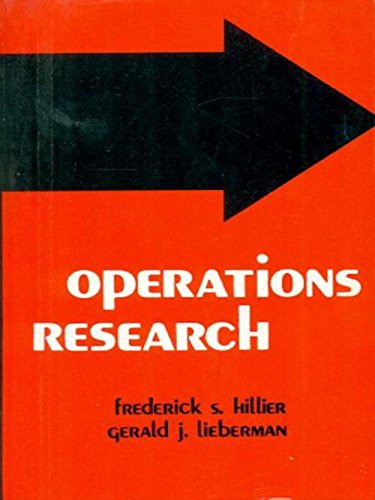 Operations Research: Frederick S. Hillier,Gerald J. Lieberman