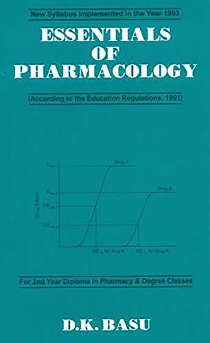 Essentials Of Pharmacology (Pb 2017): Basu D.K.