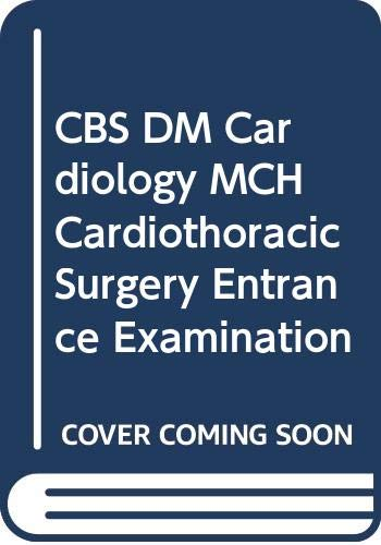 9788123913179: CBS DM Cardiology MCH Cardiothoracic Surgery Entrance Examination