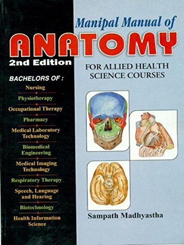 9788123914039: Manipal Manual of Anatomy: For Allied Health Science Courses