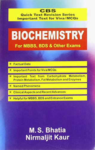 9788123915289: CBS Quick Text Revision Series Important Text for Viva / MCQs: Biochemistry for MBBS, BDS & Other Exams