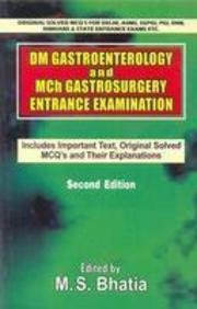 9788123917306: DM Gastroenterology and Mch Gastrosurgery Entrance Examination (Includes Important Text Original Solved MCQ's and Their Explanations