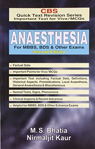 9788123920122: CBS Quick Text Revision Series Important Text for Viva / MCQs: Anaesthesia for MBBS BDS & Other Exams