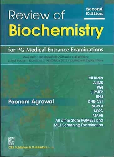 9788123923482: Review of Biochemistry for PG Medical Entrance Examinations