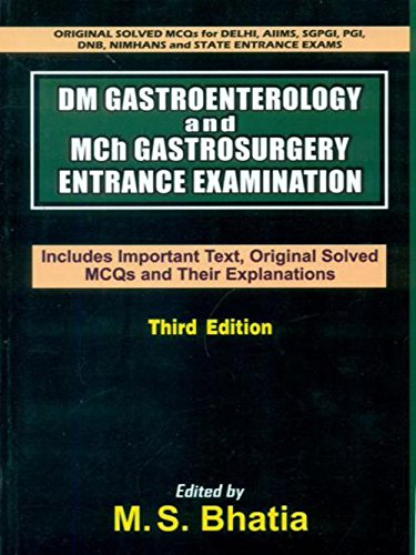 DM Gastroenterology and Mch Gastrosurgery Entrance Examination: Include Important Text, Original ...