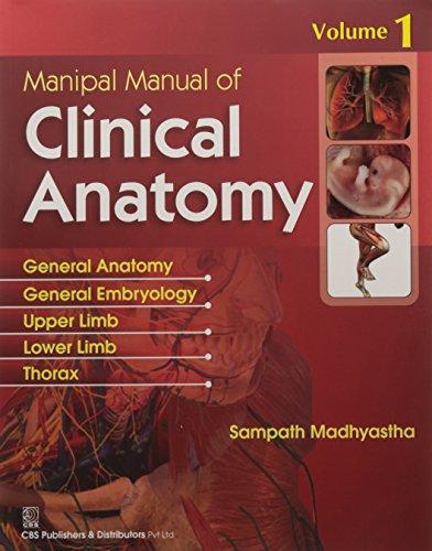 9788123924779: MANIPAL MANUAL OF CLINICAL ANATOMY V1