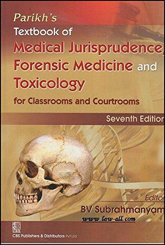 Parikhs Textbook Of Medical Jurisprudence Forensic Medicine: Subrahmanyam B.V.