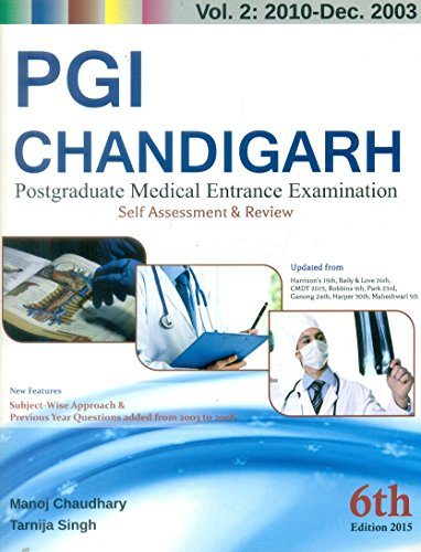 9788123928807: PGI Chandigarh : Postgraduate Medical Entrance Examination : Volume 2 : 2010- Dec- 2003