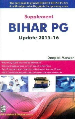 Supplement Bihar Pg Update 2015-16 (Pb): Marwah D.