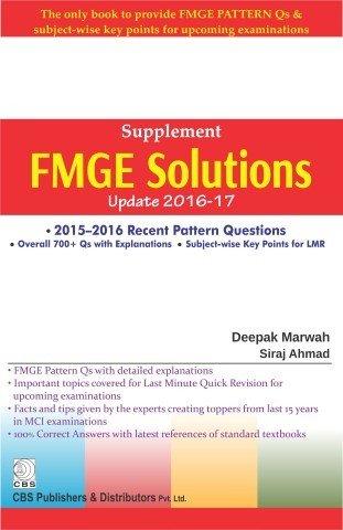 Supplement Fmge Solutions Update 2016-17 (Pb 2017): Marwah D.