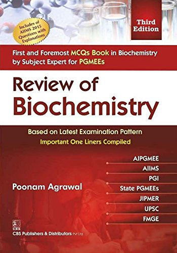 9788123929705: Review of Biochemistry for PG Medical Entrance Examinations