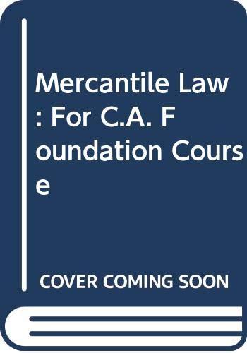 Mercantile Law: Gupta M.P. Saxena