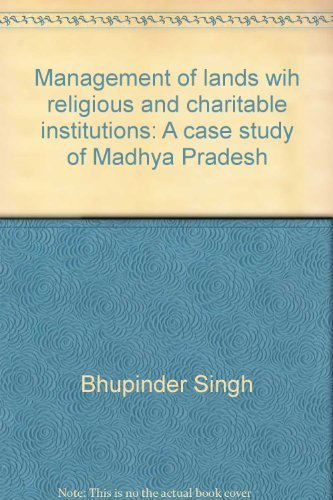 Management of Lands with Religious and Charitable: Batra S.L. Singh