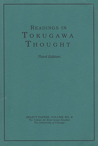 9788124400418: Readings in Tokugawa Thought (Select Papers, Center for East Asian Studies, University of Chicago, Volume 9)