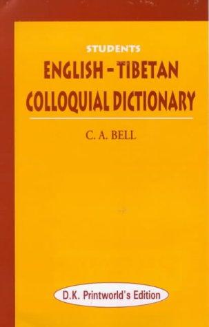 9788124601594: Students English-Tibetan Colloquial Dictionary