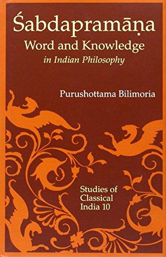 Sabdapramana: Word and Knowledge as Testimony in: Purushottama Bilimoria; Foreword