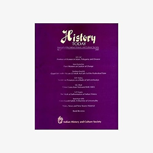 History Today (Vol. 2: 2001) - Journal: Vandana Kaushik