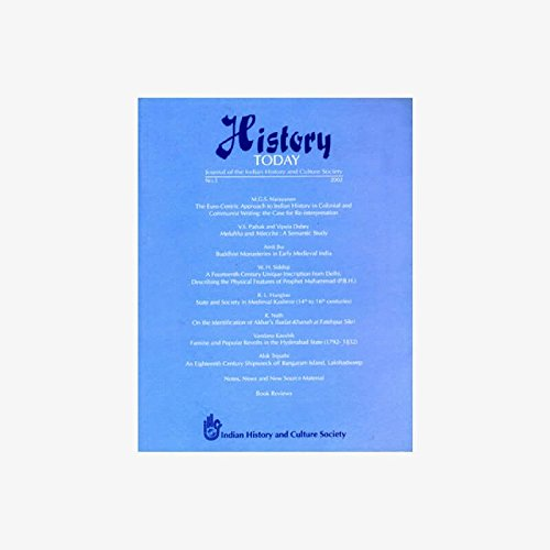 History Today (Vol. 3: 2002) - Journal: Vandana Kaushik