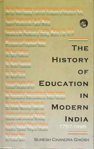 9788125018650: The History of Education in Modern India 1757-1998