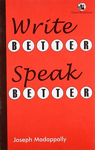 Write Better Speak Better: Joseph Madappally