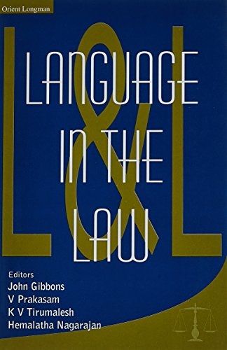 Language in the Law: John Gibbons; V Prakasam; K V Tirumalesh and Hemalatha Nagarajan