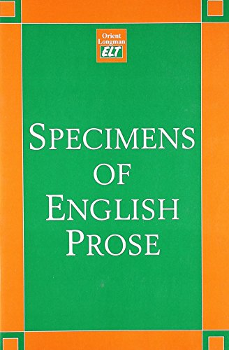 Specimens Of English Prose: In-House
