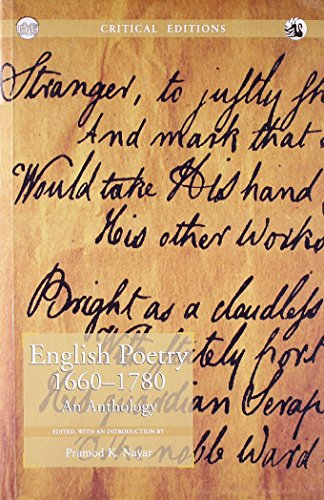 English Poetry 1660?1780: Pramod K. Nayar (Ed.)
