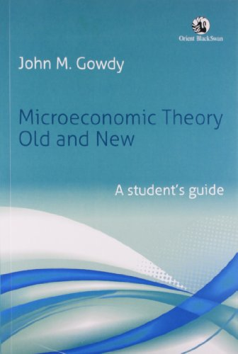 9788125042785: Microeconomic Theory Old and New