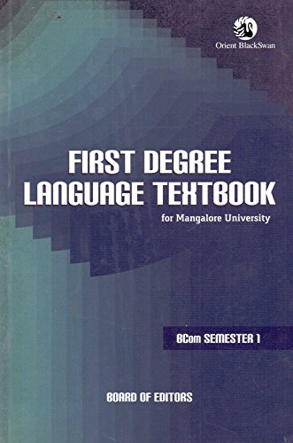 First Degree Language Textbook for Mangalore Univ.