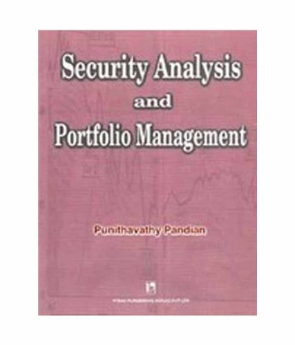 9788125910848: Security Analysis and Portfolio Management