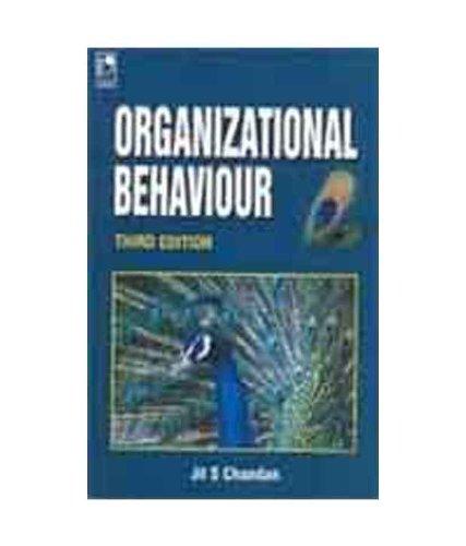 Organizational Behaviour (Third Edition): Jit S Chandan