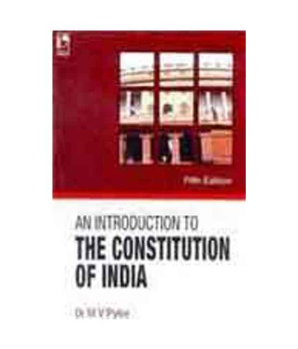 9788125918325: An Introduction To The Constitution Of India - Fifth Edition