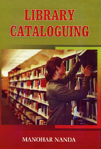 Library Cataloguing: Manohar Nanda