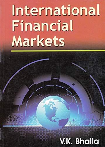 9788126146345: International Financial Markets