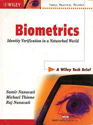 9788126502738: Biometrics