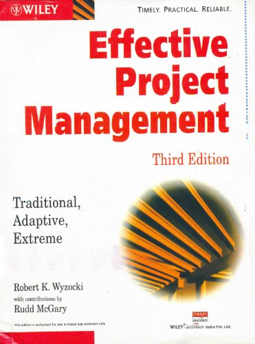 9788126504251: EFFECTIVE PROJECT MANAGEMENT (3rd Ed. )