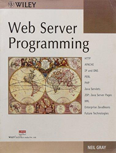 9788126504794: Web Server Programming