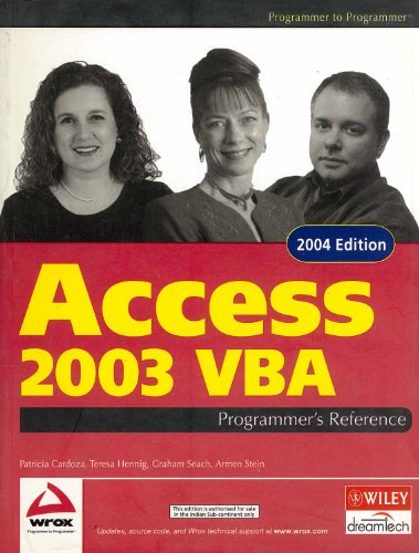 9788126505111: Access 2003 Vba Programmer's Reference
