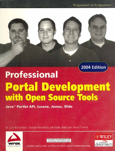 9788126505128: Professional Portal Development With Open Source Tools