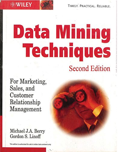 9788126505173: Data Mining Techniques: For Marketing, Sales, and Customer Relationship Management, 2nd edition