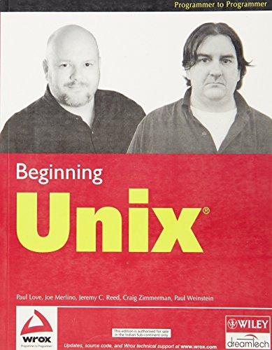 9788126505968: Beginning UNIX, w/CD