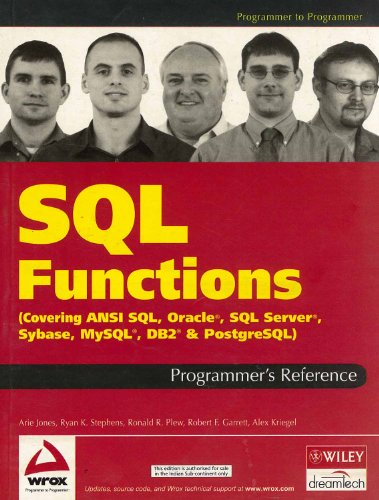9788126506026: Sql Functions Programmer'S Reference