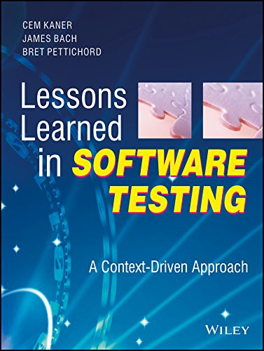 9788126506996: LESSONS LEARNED IN SOFTWARE TESTING
