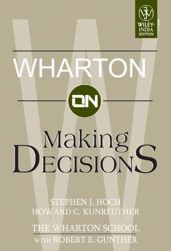 9788126507047: Wharton On Making Decisions